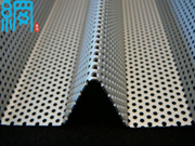 corrugated perforated metal sheet