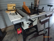 Table Saw With Tilting Head,  Table Extension and Router Extension