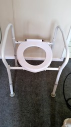 Toilet seat and frame