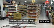 Order fresh,  premium groceries online on the go!