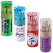 Coloured Pencils In Custom Design Tube (Indent)   Vivid Promotions