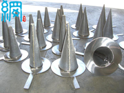 Stainless steel conical strainer for pipeline coarse filtration