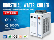 S&A small water chiller CWFL-800 for cooling 800W fiber laser